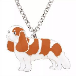 Jewelry - King Charles Cavalier enameled sculptured necklace
